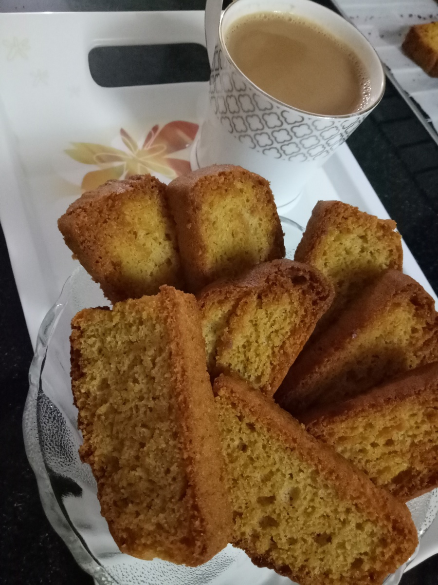 Eggless Whole Wheat Cake Rusk
