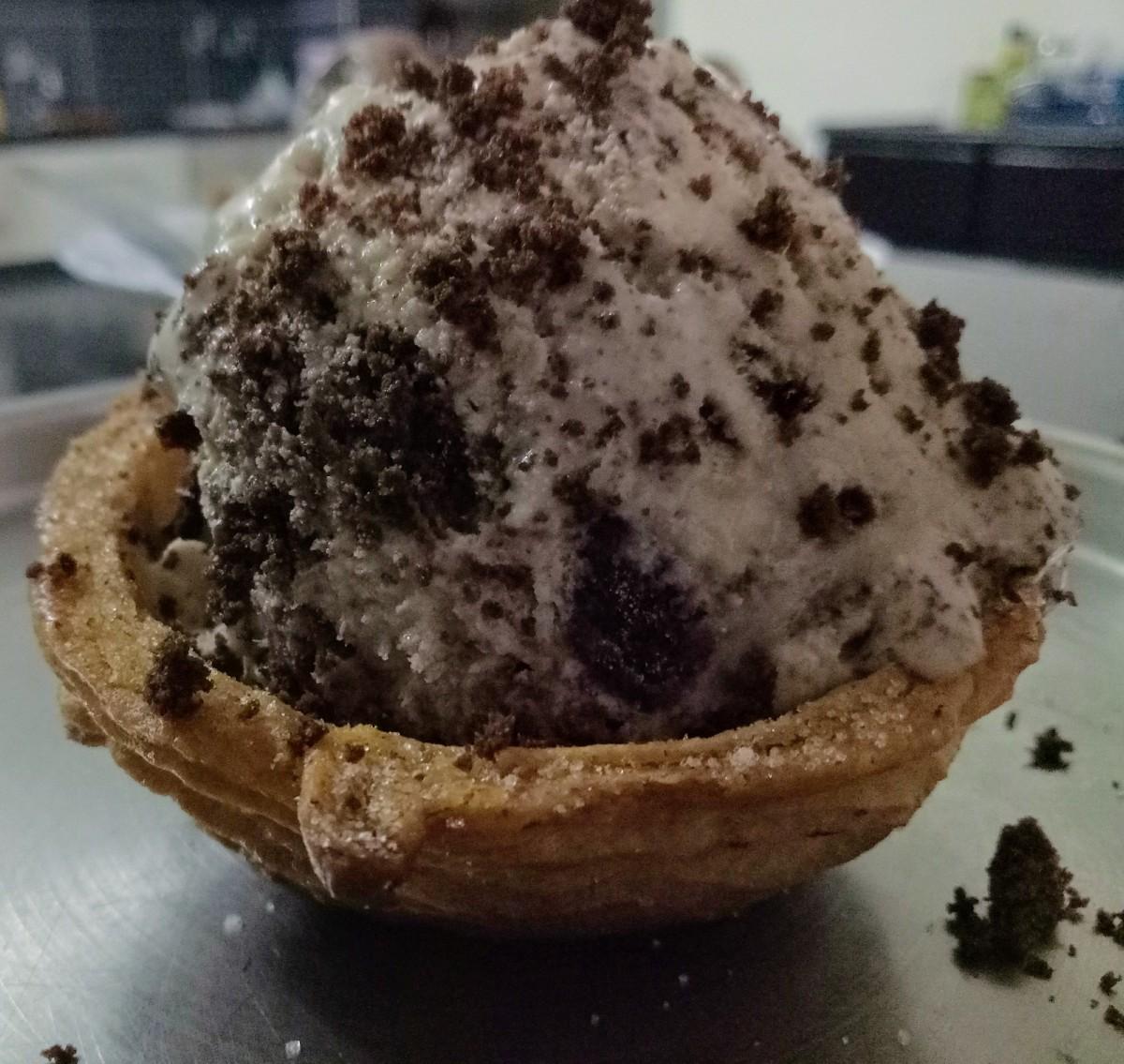 No Churn Mocha Brownie Ice Cream