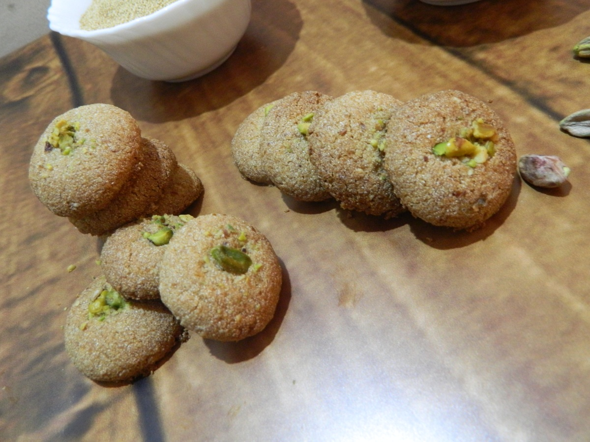 Gluten free Amaranth Almond Pistachio Cookies/Fasting Cookies
